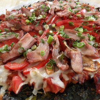 Gluten-Free Spinach & Collard Greens Pizza Crust