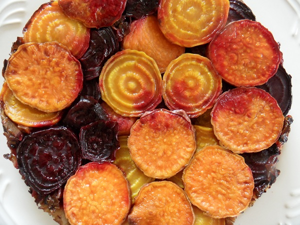 Beet and Sweet Potato Tart