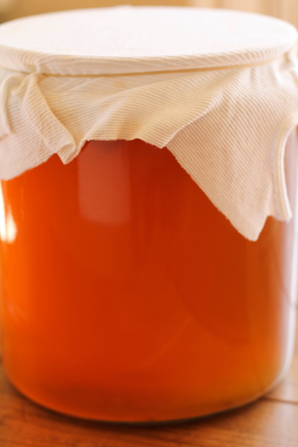 How to Make Homemade Kombucha - a tutorial on brewing your favorite naturally fermented probiotic drink at home! | www.theroastedroot.net
