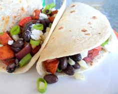 Roasted Sweet Potato Black Bean Tacos