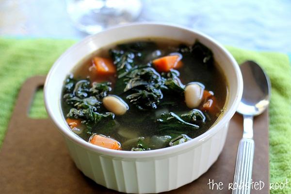 Sweet Potato, Kale & White Bean Soup - The Roasted Root
