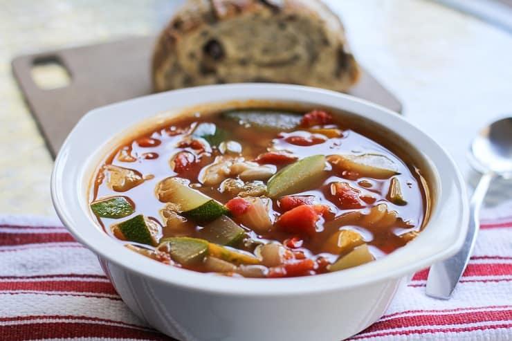 Zucchini and Yellow Squash Soup | TheRoastedRoot.com - vegetarian, vegan, healthy