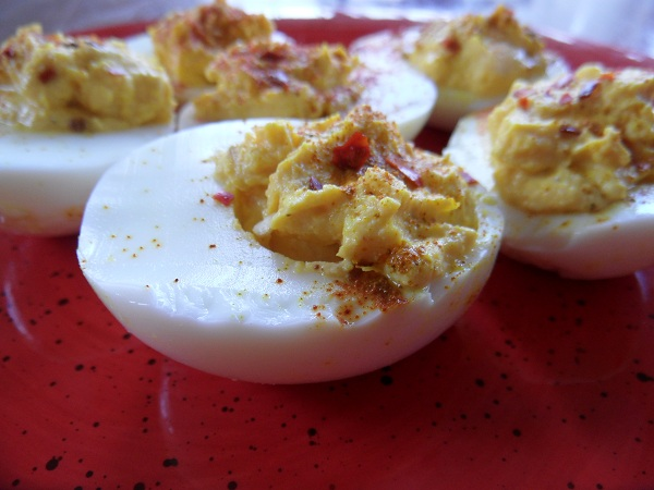 Curried Deviled Eggs - The Roasted Root