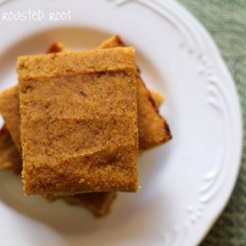 Coconut Flour Pumpkin Squares