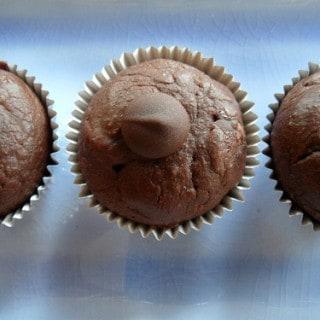 Dark Chocolate Peanut Butter Brownie Bites {Oat Flour}