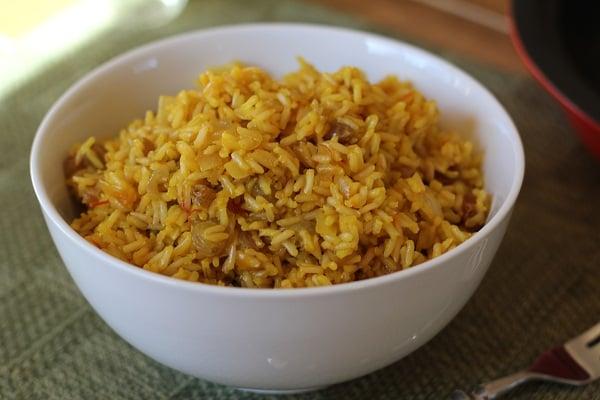 Crock Pot Lamb Curry with Saffron Rice