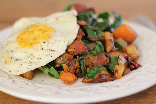 Sweet Potato & Chard Hash