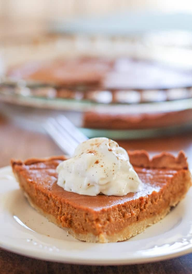 Silky Sweet Potato Pie - dairy-free, refined sugar-free, grain-free, paleo, healthy
