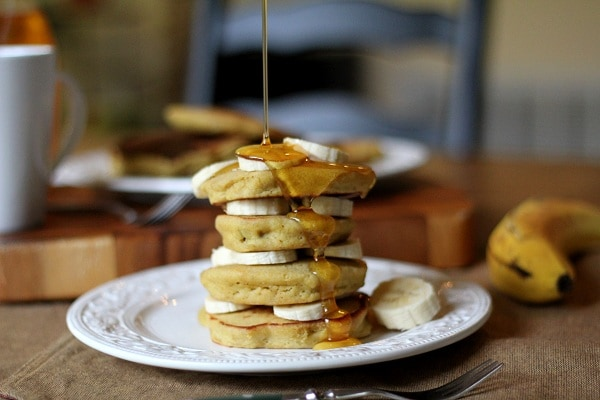 Gluten Free Brown Rice Flour Banana Pancakes