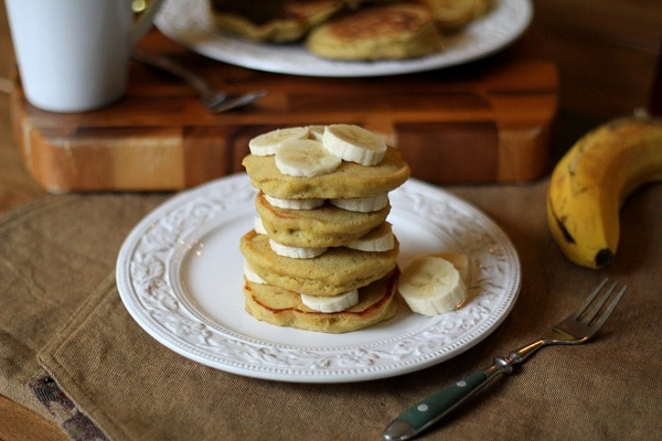 Gluten Free Brown Rice Flour Banana Pancakes