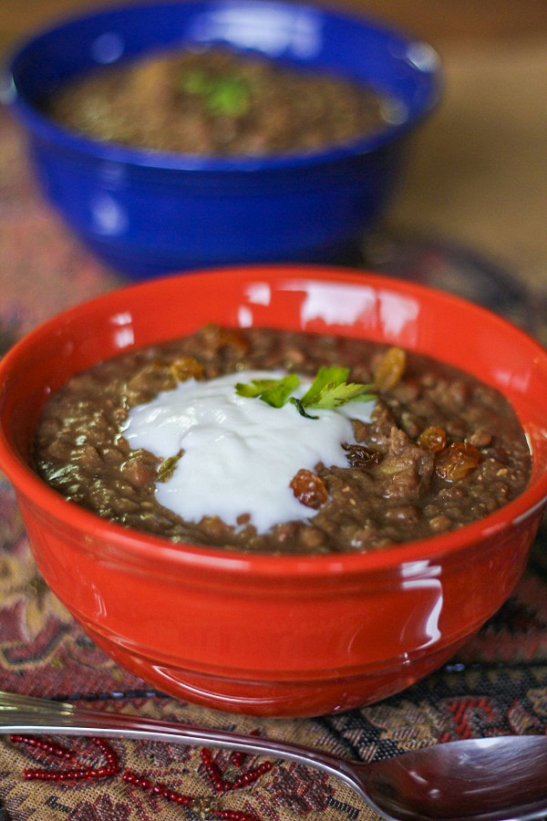 Crock Pot Tunisian Lentil Stew #healthy #glutenfree #vegetarian