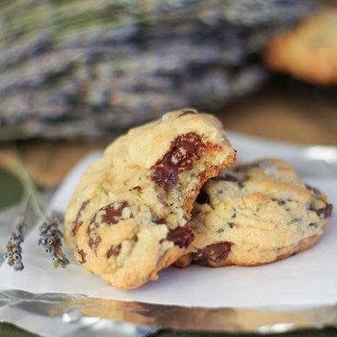 Lavender Chocolate Chip Cookies (gluten-free)
