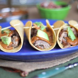 Pulled Pork Mole Tacos
