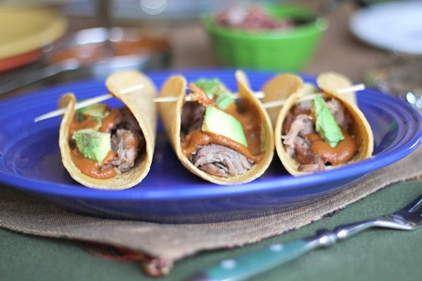 Pulled Pork Tacos with Mole Sauce