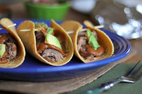 Pulled Pork Mole Tacos