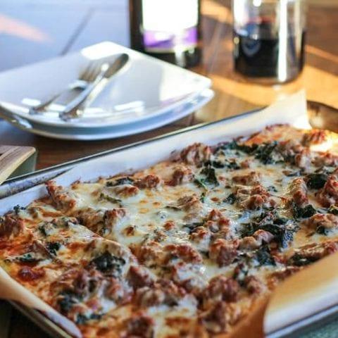 Cauliflower Pizza Crust - how to make grain-free, gluten-free pizza crust using cauliflower!