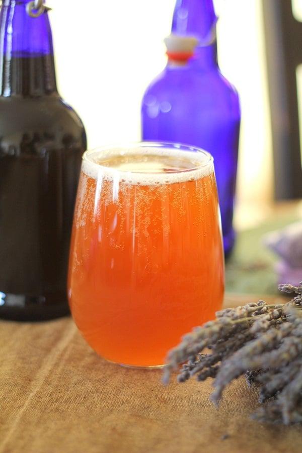 Homemade Lavender Kombucha