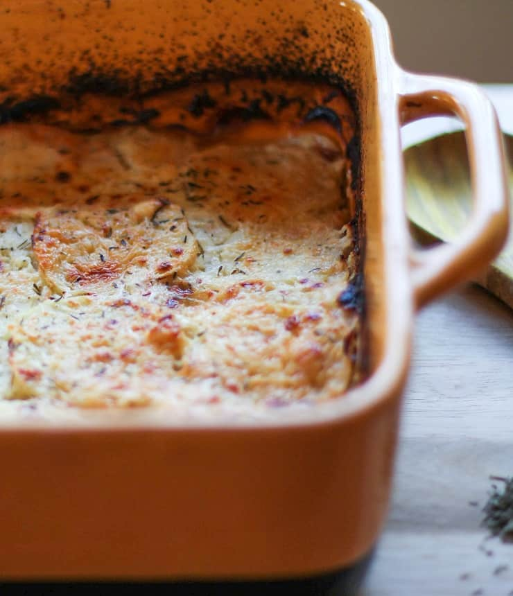Parsnip Gratin - a cheesy, comforting, delicious side dish