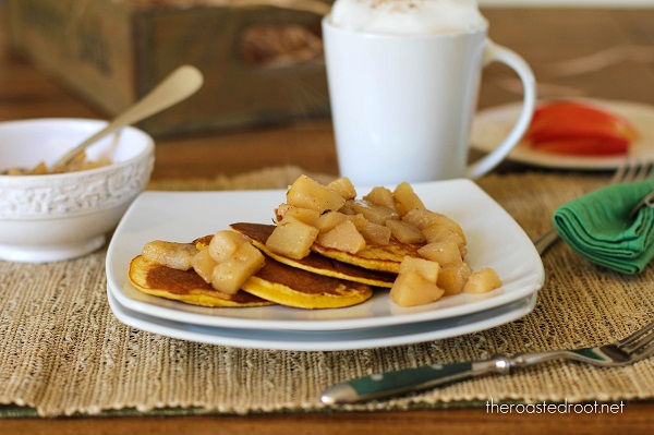 Gluten Free Pancakes with Caremelized Pears