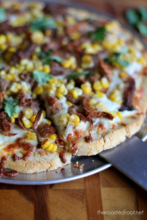 Gluten free Carnitas Taco Pizza