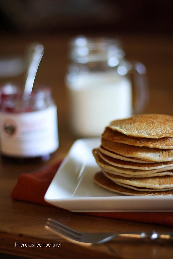Gluten Free Peanut Butter & Jelly Pancakes