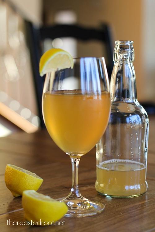 homemade Lemon Ginger Kombucha