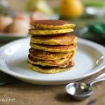 Lemon Poppy Seed Coconut Flour Pancakes (gluten free)