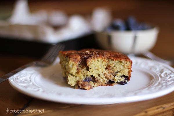 Blueberry Yogurt Coffee Cake (gluten free)