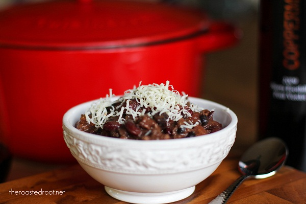 Red Wine Turkey Sausage Chili
