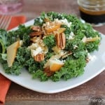 Massaged Kale Salad with Apple, Pear, Gorgonzola and Roasted Pecans