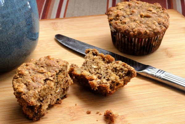 Oatmeal Walnut Muffins