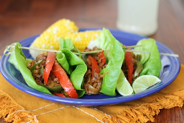 Turkey Fajita Lettuce Wraps