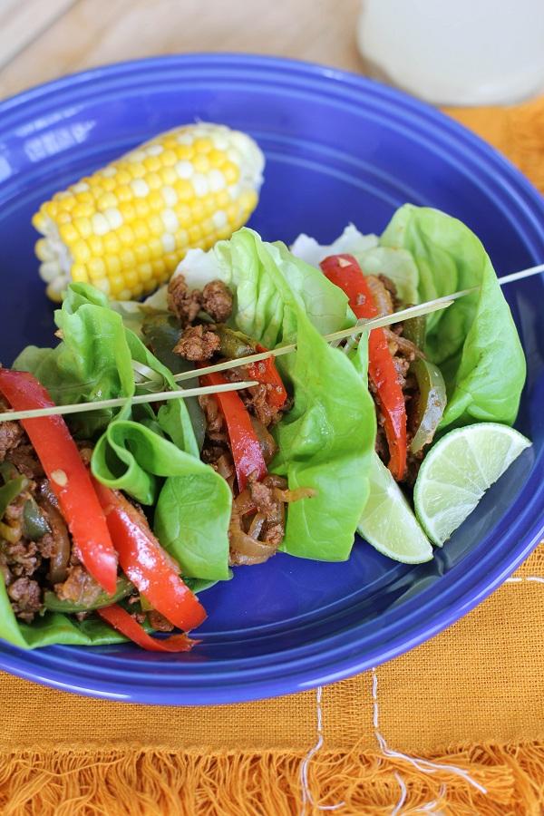 Turkey Fajita Lettuce Wraps