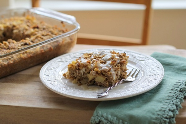 Gluten Free Apple Cinnamon Muesli Breakfast Bake