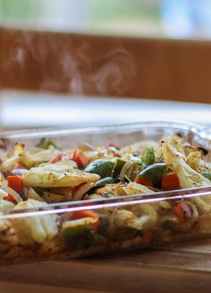 Cajun Seasoned Roasted Vegetables   TheRoastedRoot.net #healthy #vegetarian #recipe