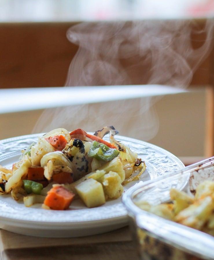 Cajun Seasoned Roasted Vegetables | TheRoastedRoot.net #healthy #vegetarian #recipe