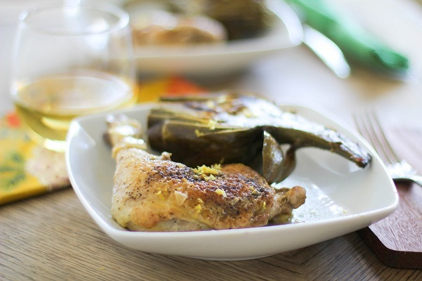 How to Braise Chicken (and artichokes!)