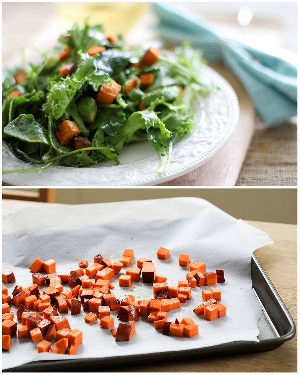 Roasted Sweet Potato Pesto Salad