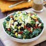 Southwest Kale Salad with Cumin Ginger Sage Dressing