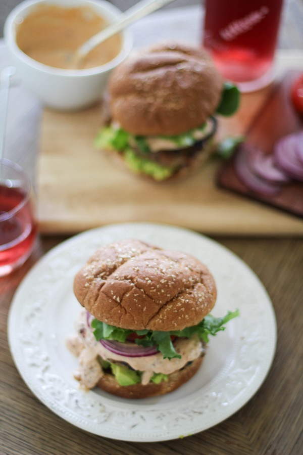 Southwest Turkey Burgers with Chipotle Yogurt Sauce   https://www.theroastedroot.net