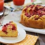 Gluten Free Strawberry Rhubarb Cake
