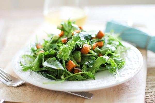 Roasted Sweet Potato Pesto Salad