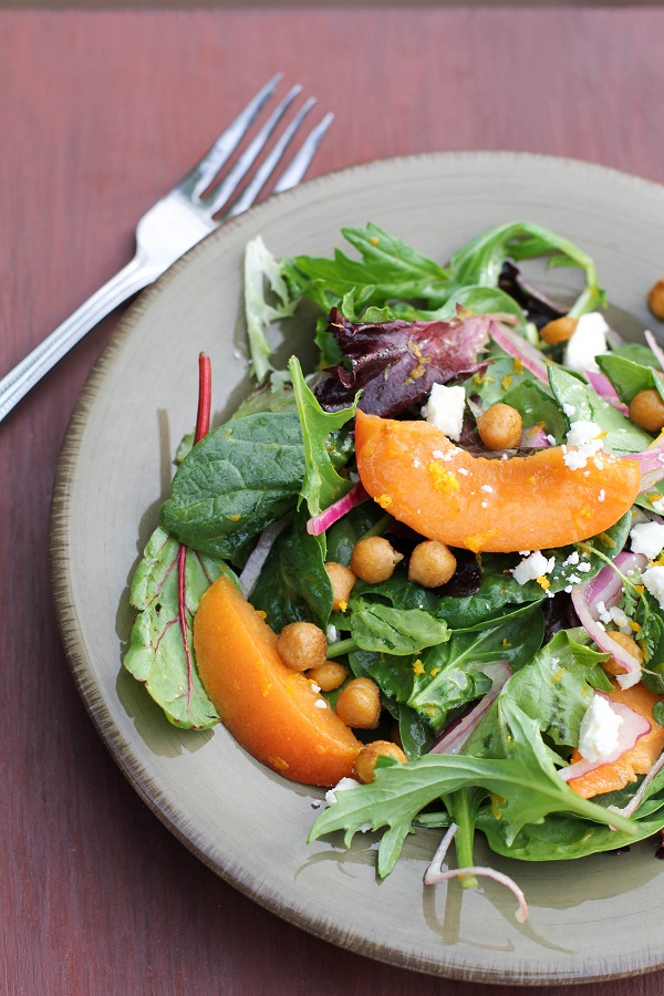 Toasted Chickpea and Apricot Salad | http://www.theroastedroot.net