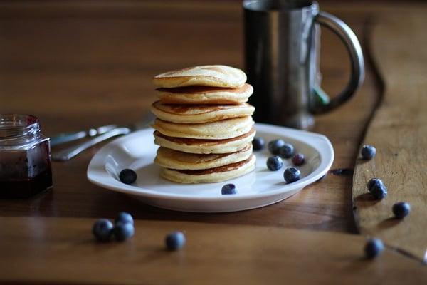 Gluten free yogurt pancakes | https://www.theroastedroot.net