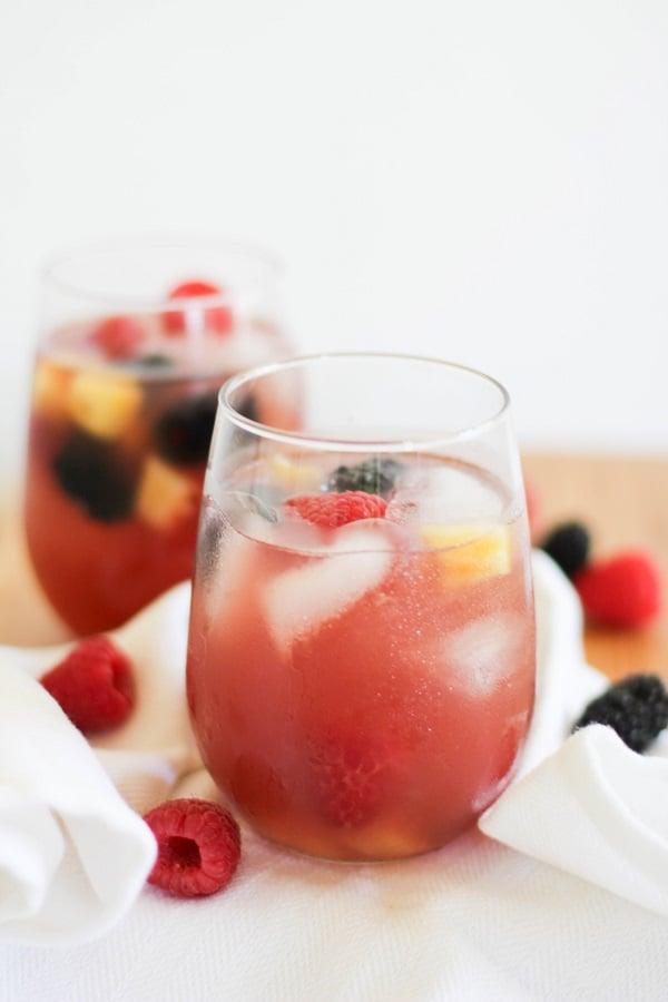 Pineapple Rosé Sangria | https://www.theroastedroot.net