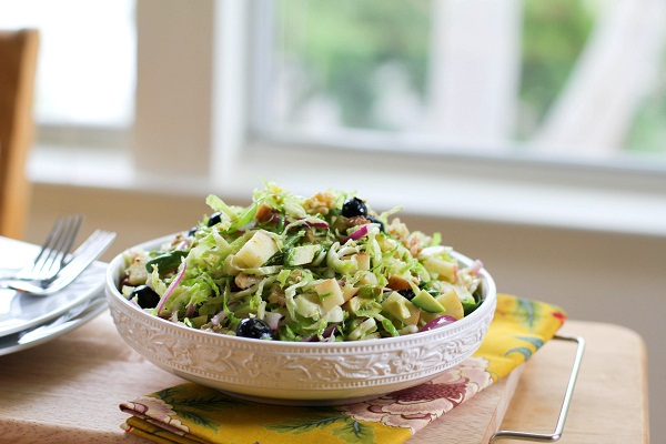 Shaved Brussels Sprouts Salad | http://www.theroastedroot.net