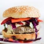 Thai Turkey Burgers with curry yogurt sauce   https://www.theroastedroot.net