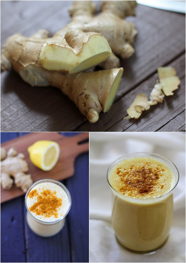 Turmeric Lassi with Ginger | https://www.theroastedroot.net
