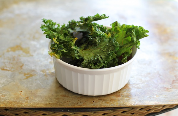 Baked Kale Chips | http://www/theroastedroot.net