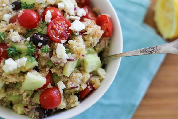 Greek Quinoa Salad | http://www.theroastedroot.net
